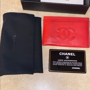 Red Chanel Card holder